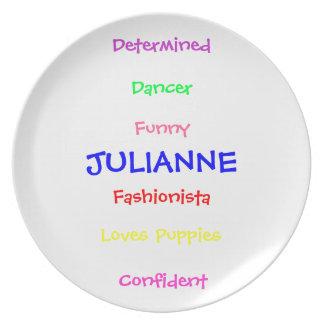 Customized personality plate
