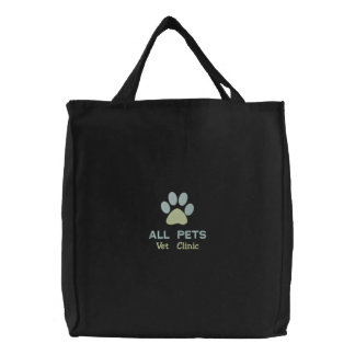 Customized Personalized Animal Hospital Embroidered Tote Bag