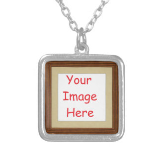 Customized personalized framed add your picture to silver plated necklace