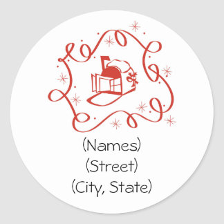 Customized Personalized Holiday Address Labels Classic Round Sticker
