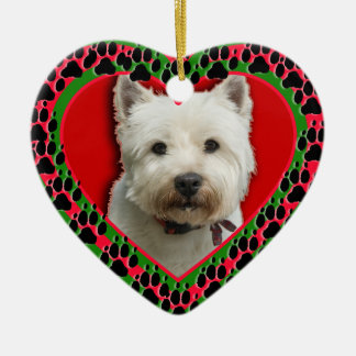Customized Pet Photo with Paw Prints Ornament