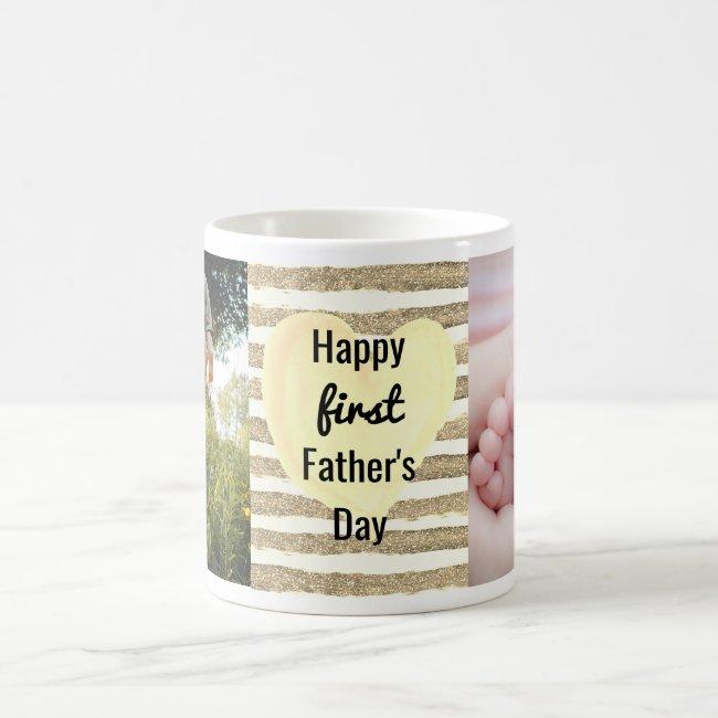 Customized Photo 1st Father's Day Coffee Mug
