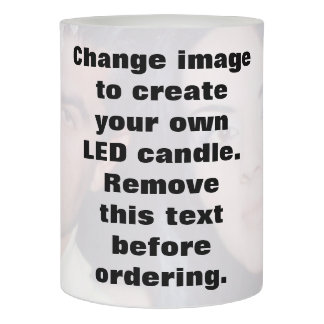 Customized photo candle. Make your own! Flameless Candle