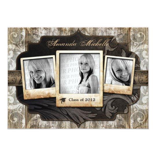 Customized Photo Graduation Announcement Invite