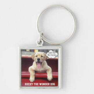 Customized Photo Key Chain Sterling Silver