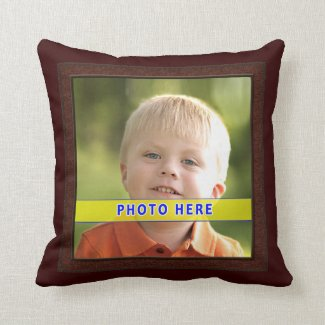 Customized Pillows with Pictures and Faux Frame