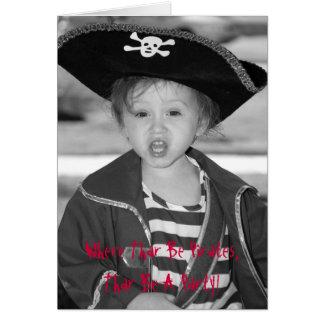 customized pirate birthday invitation card
