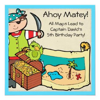Customized Pirate Party Birthday Invites