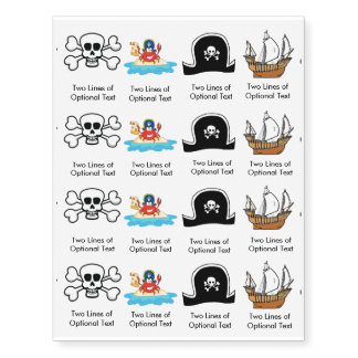 Customized Pirate Party Tattoo Favors