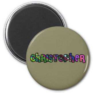 Customized plate Christopher Magnet