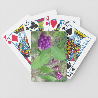Customized Playing Cards-Purple Berries Tree Bicycle Playing Cards