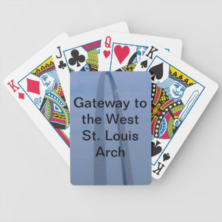 customized playing cards-St. Louis Arch Bicycle Playing Cards