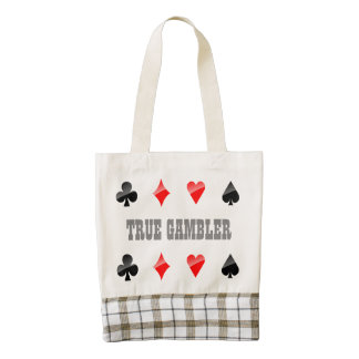 Customized Playing Cards Suits Zazzle HEART Tote Bag
