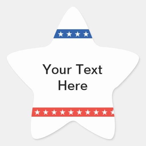 Customized Political Star Sticker