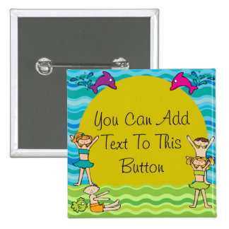 Customized Pool Party Button