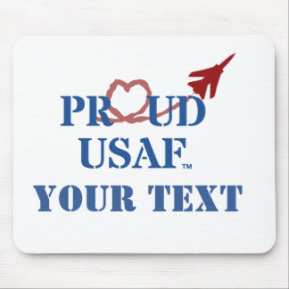 Customized Proud USAF - Jet with Heart Vapor Mouse Pad