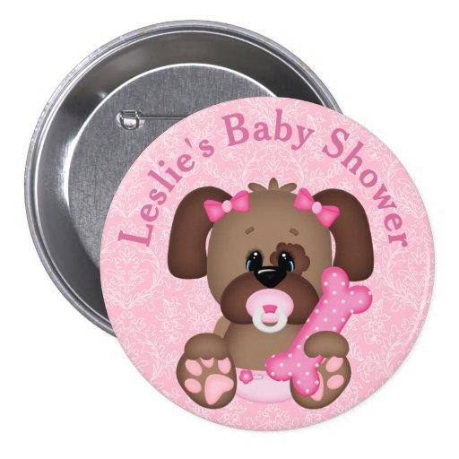 customized puppy baby shower button zazzle