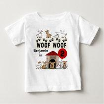 Customized Puppy Dog Birthday Tshirt
