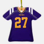 Customized Purple/Gold Football Jersey 27 V1 Ornament