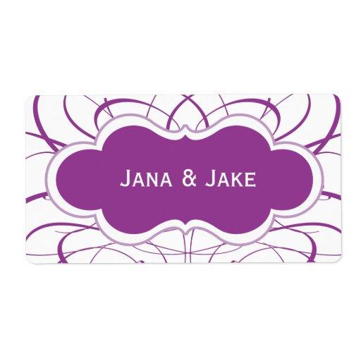 Customized Purple Swirl Label