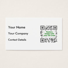 Customized Qr Code For Mobile Phone Business Card at Zazzle