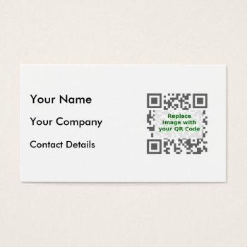 Customized Qr Code For Mobile Phone Business Card by DigitalDreambuilder at Zazzle
