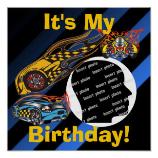 Customized Racing Birthday Poster