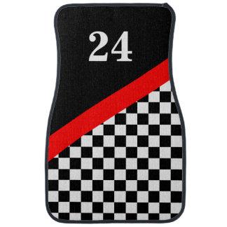 Customized Racing Flag Floor Mats Car Mat