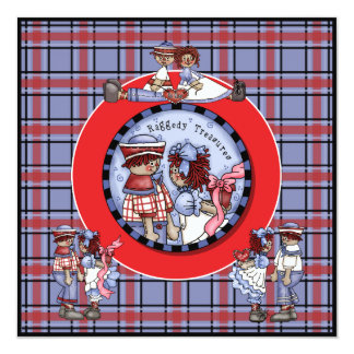 Customized Raggedy Ann and Andy Invitation