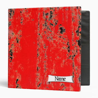 Customized Red And Black Grunge Binder