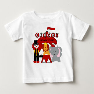 Customized Red and White Circus Birthday T-shirt