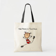 Customized Red Girl Gymnast  Tote  Bag at Zazzle