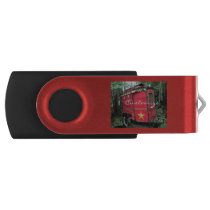 Customized Red Gypsy tiny caravan Flash Drive