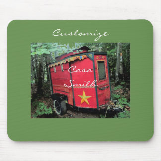 Customized Red Gypsy tiny caravan Thunder_Cove Mouse Pad