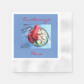 Customized red lobster napkins