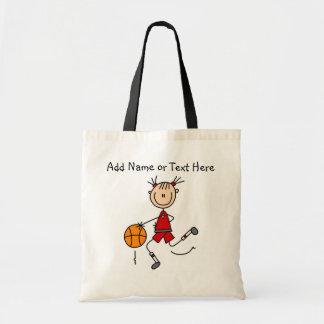 Customized Red Stick Girl Basketball Bag