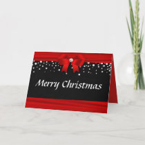 Customized Red White and Black Christmas Card