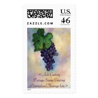 Customized Red Wine Grapes Postage Stamps