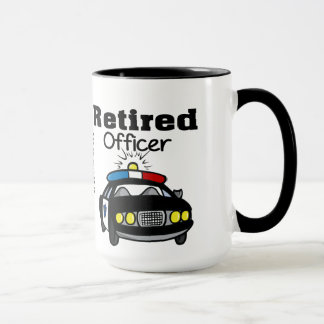 Customized Retired Police Officer Mug