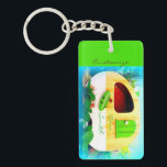 "Customized retro camper casa keychain<br><div class=""desc"">personalize by changing to your name</div>"