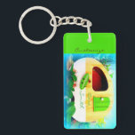 """Customized retro camper casa keychain<br><div class=""""desc"""">personalize by changing to your name</div>"""
