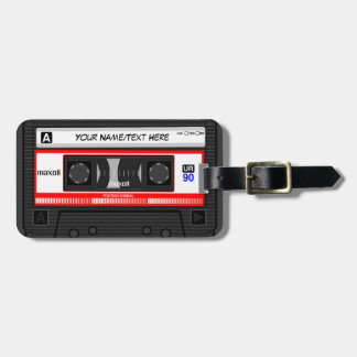 Customized Retro Music Cassette Tape Tag For Bags