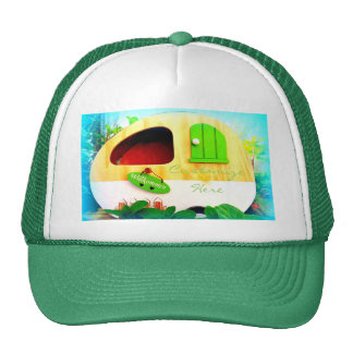 Customized Retro Vintage camper Trucker Hat