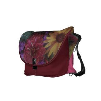 Customized Rickshaw Messenger Bag-Mixed Flowers Courier Bag