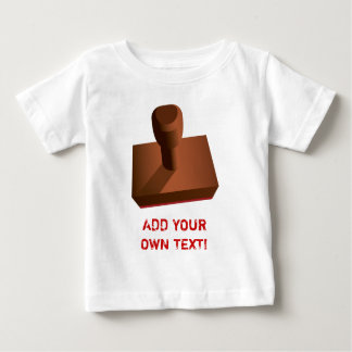 Customized Rubber Stamp impression 2 Baby T-Shirt