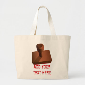 Customized Rubber Stamp impression 2 Canvas Bags