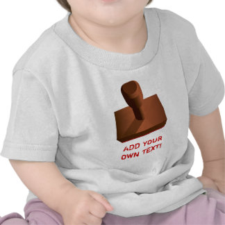 Customized Rubber Stamp impression 2 T Shirt