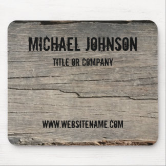 Customized Rustic Wood Texture Business Mouse Pad