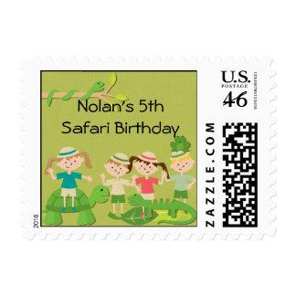 Customized Safari Postage Stamps