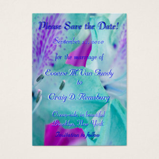 Customized Save The Date I Business Card